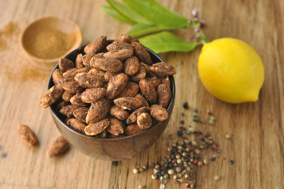 Lemon Pepper Cajun Almonds