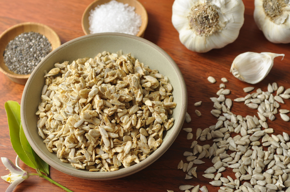Garlic and Sea Salt Sprouted Sunflower Seeds