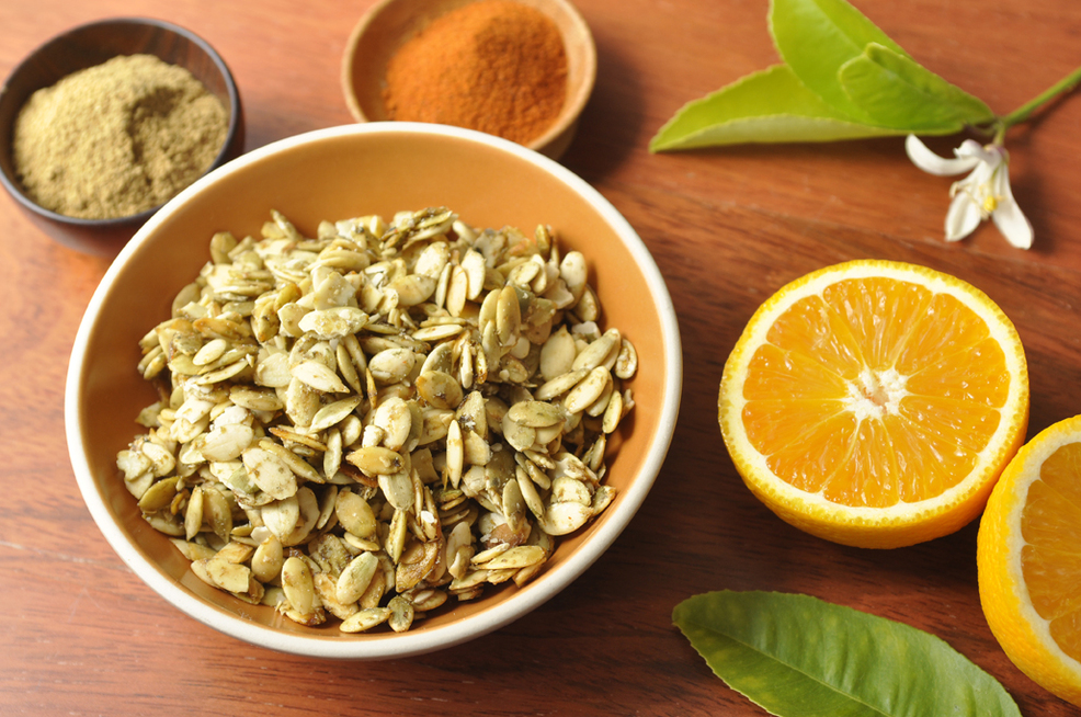 Orange & Spice Sprouted Pumpkin Seeds