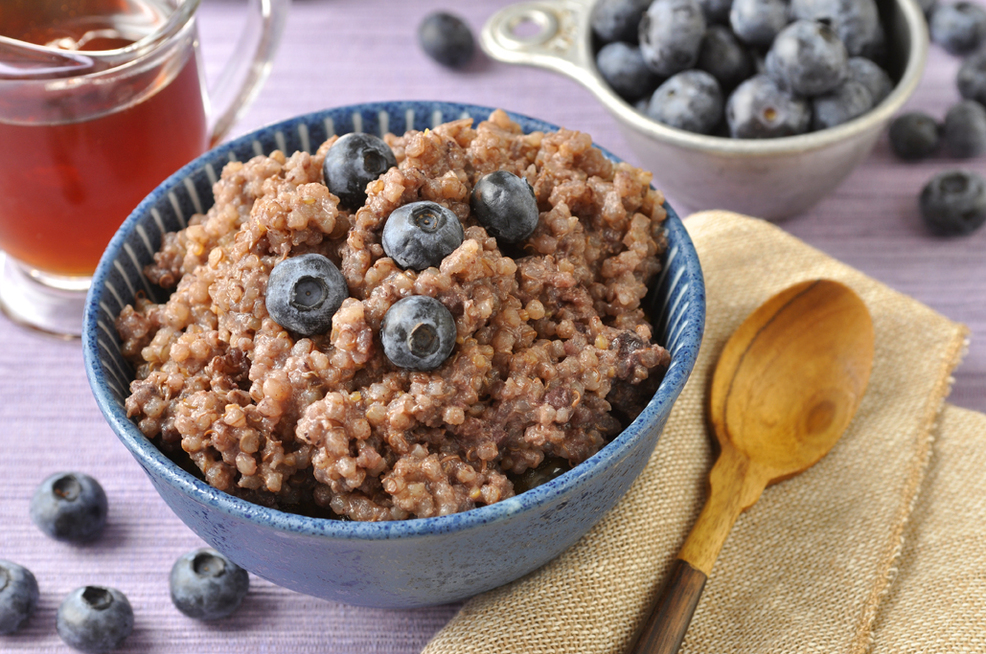Wild Blueberry Quinoa Cereal from Cocomama