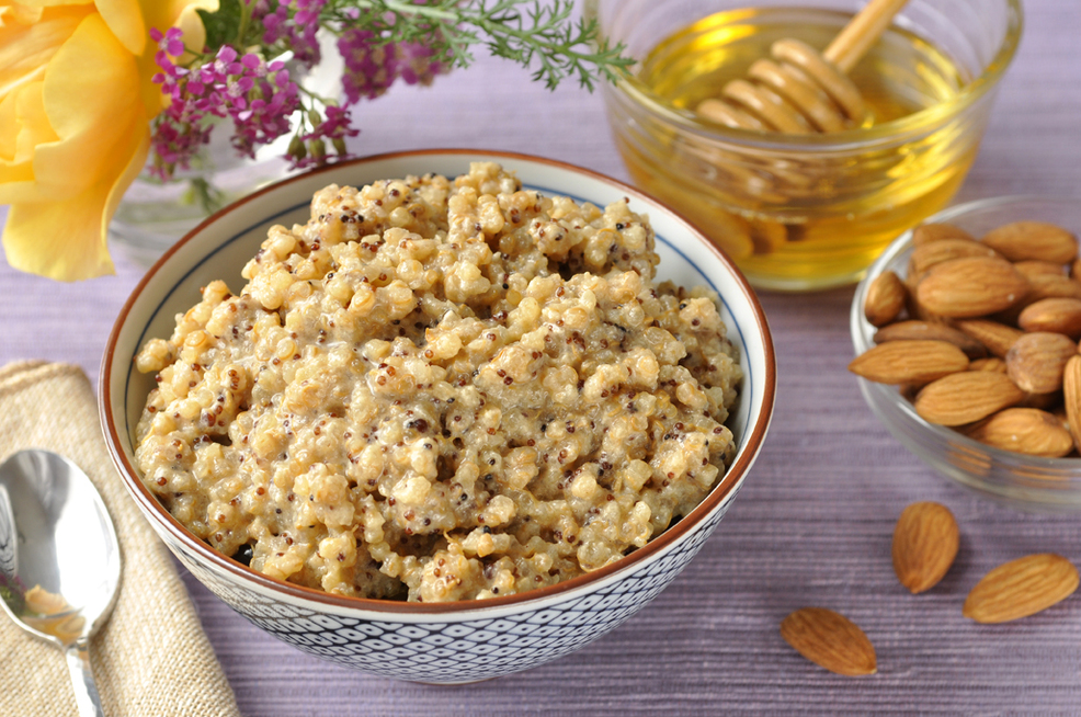 Honey Almond Quinoa Cereal from Cocomama